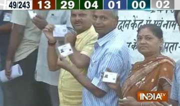 bihar polls 13 per cent turnout recorded in first...
