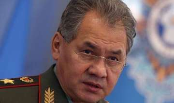 russian defence minister sergei shoigu meets modi...
