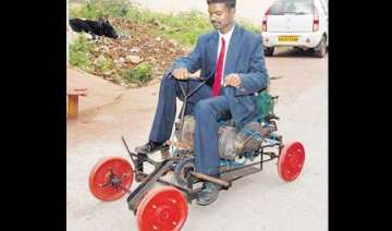 bangalore youth develops air powered vehicle -...