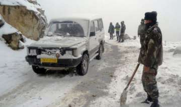 army deployed in sikkim s changu to rescue...