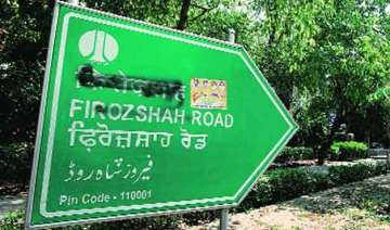 road signs with muslim names defaced in delhi...
