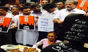 beef party on kolkata street to protest rising...
