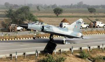 iaf fighter jet lands at yamuna expressway as...