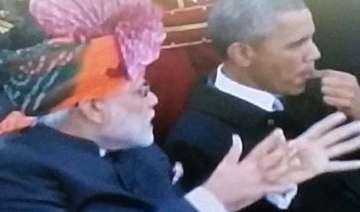 republic day modi obama cheered at rajpath -...