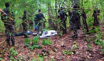 two stf jawans two maoists killed in encounter in...