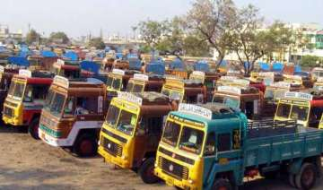 truckers strike hits transportation of goods in...