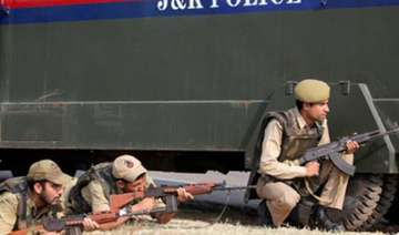 militants attack police post in kashmir kill one...
