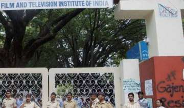 ftii row police arrest 5 students on charges of...