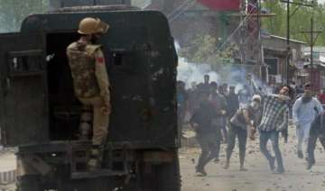 kashmir valley remains tense stray incidents of...