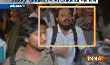 pro afzal guru chants at protest march in...