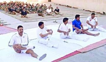 bsf starts yoga for troops to combat stress sleep...
