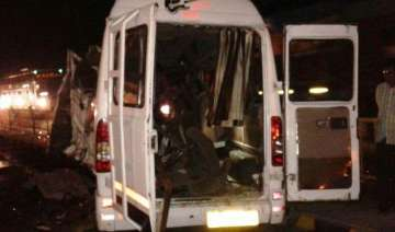 11 killed 17 injured as vehicle collides with bus...