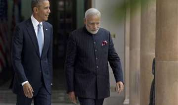 in pics pm modi wears bandgala suit striped with...