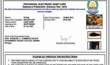 cow who was issued admit card does not appear for...