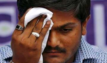 hardik patel sent to hospital after being on a...