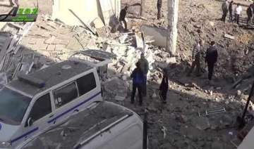deadly airstrikes hit hospitals school in syria...