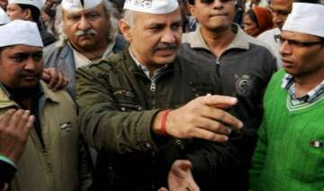 contractual teachers protest against sisodia -...