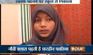 muslim girl banned from wearing scarf in lucknow...