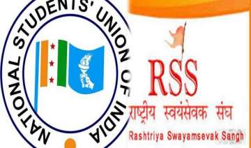 nsui to send get well soon cards to rss - India TV