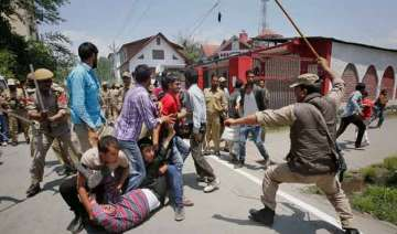 contractual employees stage protest police use...