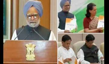 pm presents upa report card - India TV