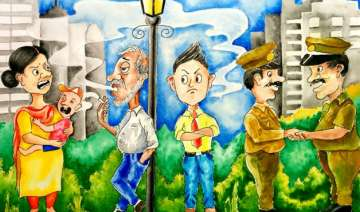 world no tobacco day only 2 challans in capital...