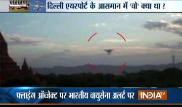 ufo spotted at delhi airport indian air force on...