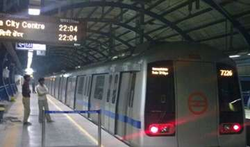 technical snag affects metro services on noida...