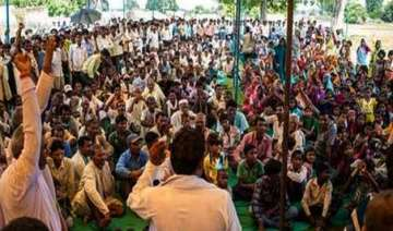 villagers protest coal mines re allotment in...