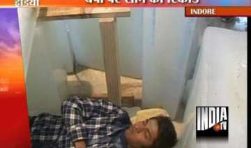 indore youth sets indian record for sleeping on...