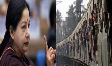 jayalalithaa demands roll back in rail fare hike...