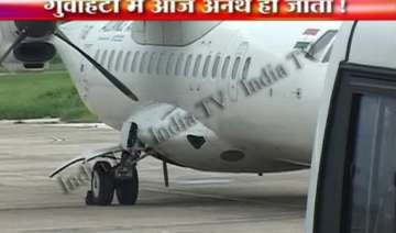 lady pilot lands air india plane on one wheel in...