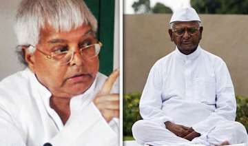lalu objects to hazare s remarks on mps - India TV