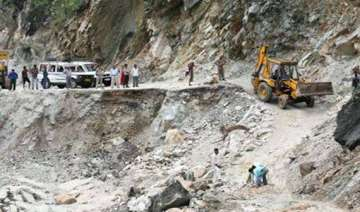 landslide damages nh connecting rishikesh and...