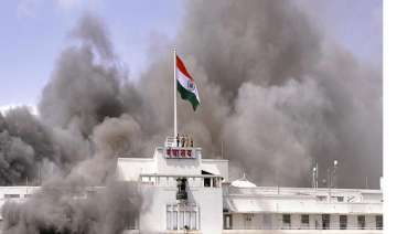 mantralaya fire sixteen cctv footages partially...