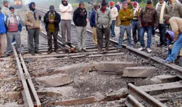 maoist bandh railway tracks blown up mobile tower...
