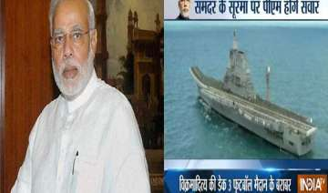 heightened security for pm s ins vikramaditya...