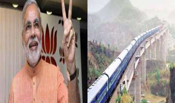 narendra modi likely to flag off train to katra...