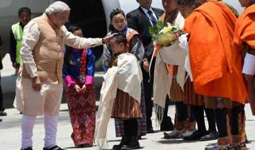 narendra modi moved by bhutanese children s song...