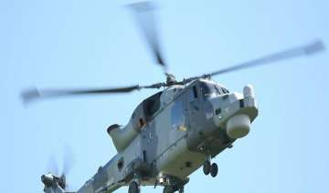 naval chopper makes emergency landing due to...