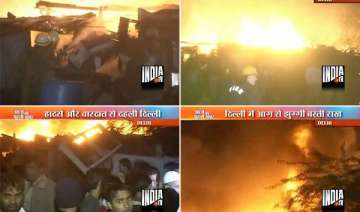 nearly 500 slum dwellings gutted in delhi fire -...
