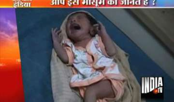 newborn baby girl abandoned at noida bus stop -...