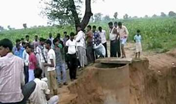 nine year old boy falls into borewell in...