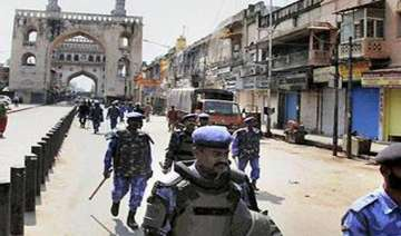on telangana march day hyderabad under police...