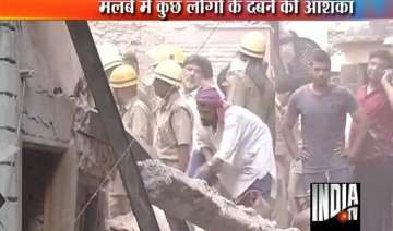 two dead as building collapses in bara hindu rao...