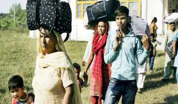 pak shelling hundreds of people migrate from...