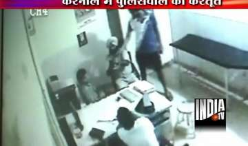 drunk haryana sub inspector fires at doctor...