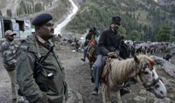 police trainees protest deployment at amarnath...
