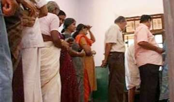 polling official applied indelible ink on...
