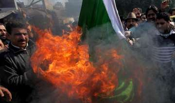 protests by shiv sena against pak ceasefire...